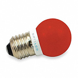 LED Light Bulb, A12, 620-640nm, Red, PK10