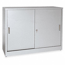Storage Cabinet, 2 Shelf, 18In D, Dove Gray