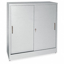Storage Cabinet, 3 Shelf, 12In D, Dove Gray