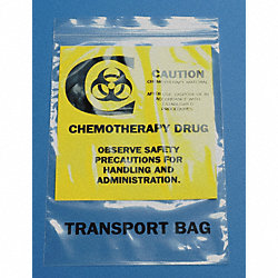 Chemo Waste Bag, Clear, 15 In. L, PK 500