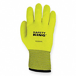 Coated Gloves, XL, Hi Vis Green, PR