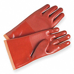 Cold Protection Gloves, PVC, L, Red, PR