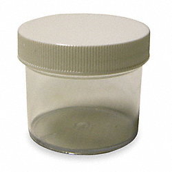 Plastic Jar, Wide Mouth, 16 Oz, White Cap