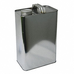 Rectangular Steel Jug, 1 Gal, With Cap