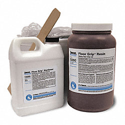 Floor Coating, 2 gal, Black, Epoxy, Hi-Gloss