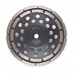 Segment Cup Wheel, Diamond, Dbl, 7x5/8-11