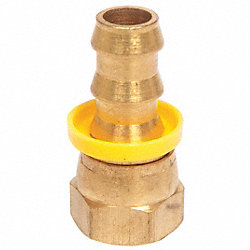 Hose Fitting, Brass, 1/4 In Hose ID