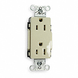Receptacle, 15A, 5-15, Light Almond