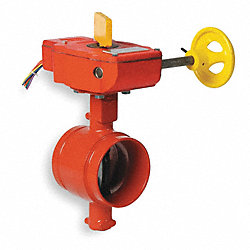 Butterfly Valve, Grooved, 6 In, Iron