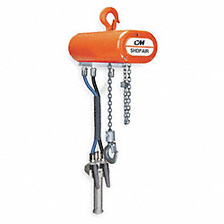 Air Chain Hoist, 300 lb. Cap., 10 ft. Lift