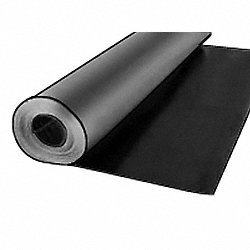 Roll, Vinyl, 1/8 Th x 36 In W, 75 Ft L, Blk