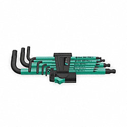 Ball End Hex Key Set, 1.5 - 10mm, L-Shaped