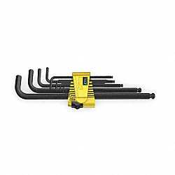 Ball End Hex Key Set, 0.050-3/8 In.L-Shpd