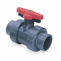PVC Ball Valve, Union, Socket/FNPT, 2 In