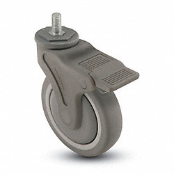 Swivel Stem Cstr w/Totl Lock, 4 In, 260 lb