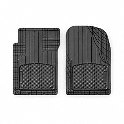 Floor Mat Set, Front, Blk, 19 In and 18 In