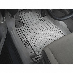Floor Mat Set, Front, Gray, 19 In and 18 In