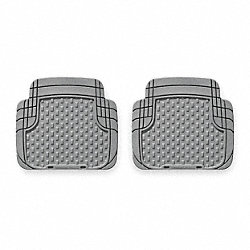 Floor Mat Set, Rear, Gray, 18.38 In
