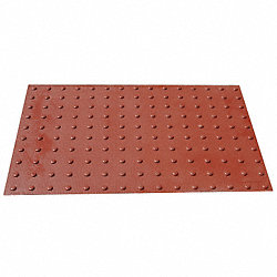 Wet-Set ADA Warning Pad, Brick Red, 4x2 ft