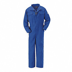 Flame-Resistant Coverall, Royal Blue, 3XL