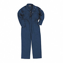 Flame-Resistant Coverall, Navy, 2XL, HRC1