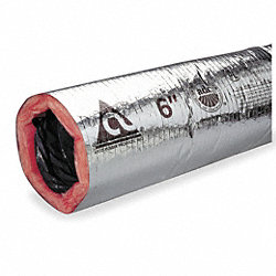 Insulated Flexible Duct, 180F, 8 In. Dia.