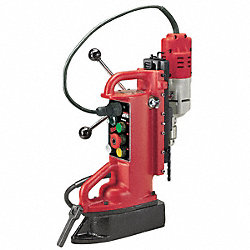 Magnetic Drill Press, 600RPM, 1/2 In Steel