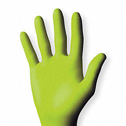 Disposable Gloves, Nitrile, M, Green, PK100