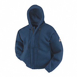 FR Hooded Sweatshirt, Navy, 2XL, Zipper