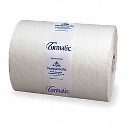 Paper Towel Roll, Cormatic, Wh, 700ft., PK6