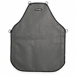 Bib Apron, Gray/Black, 30 In. L, 24 In. W