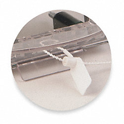 Safety Seal For Cover, White, Pk 5