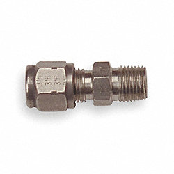 Compression Fitting, Adj, 1/8NPT, L 3/16