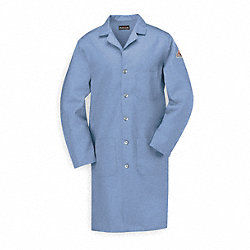 Flame-Resistant Lab Coat, Light Blue, 2XL