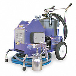 HVLP Paint Sprayer, 4 Stage, 1 qt/2.5 gal.