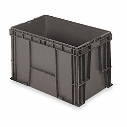 Straight Wall Container, H14 1/2, D24, Gray