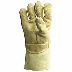 Heat Resistant Gloves, Tan, PBI/Kevlar, PR
