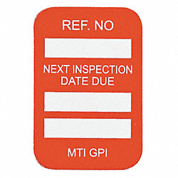Microtag(r) Inspection Insr, Wht/R, PK100
