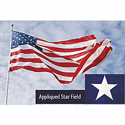 US Flag, 15x25 Ft, Polyester