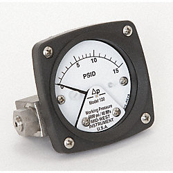 Differential Pressure Gauge, 0 to 15 PSID