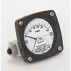 Differential Pressure Gauge, 0 - 100 PSID
