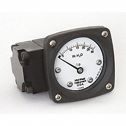 Differential Pressure Gauge, 0 - 30 In WC