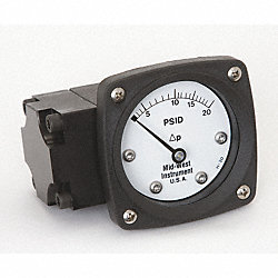 Differential Pressure Gauge, 0 to 20 PSID