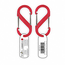 Carabiner Clip, 3-1/2 In., Plastic, Red