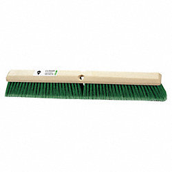 Push Broom, Green Synthetic, Floor Brush