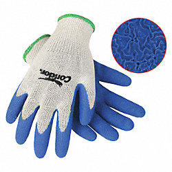 Coated Gloves, XL, Blue/Natural, PR
