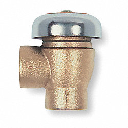Vacuum Breaker, 1/2 In, NPT, Bronze
