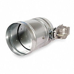 Round Smoke Damper, 24V, 8-1/4 In. D