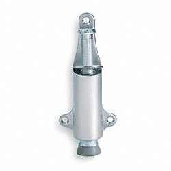 Plunger Door Stop, Satin Chrome