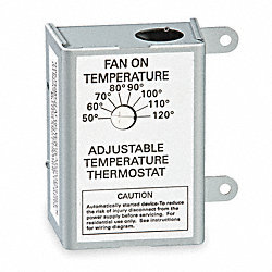 Thermostat, Attic Fan Control, 120 Volt
